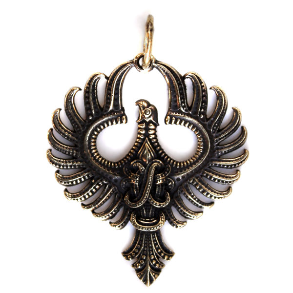 феникс бронзовый кулон купить в симферополе в крыму оптом украшения бронзовые