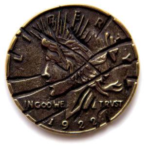 купить бронзовую монету двуликого харви дента из бэтмена