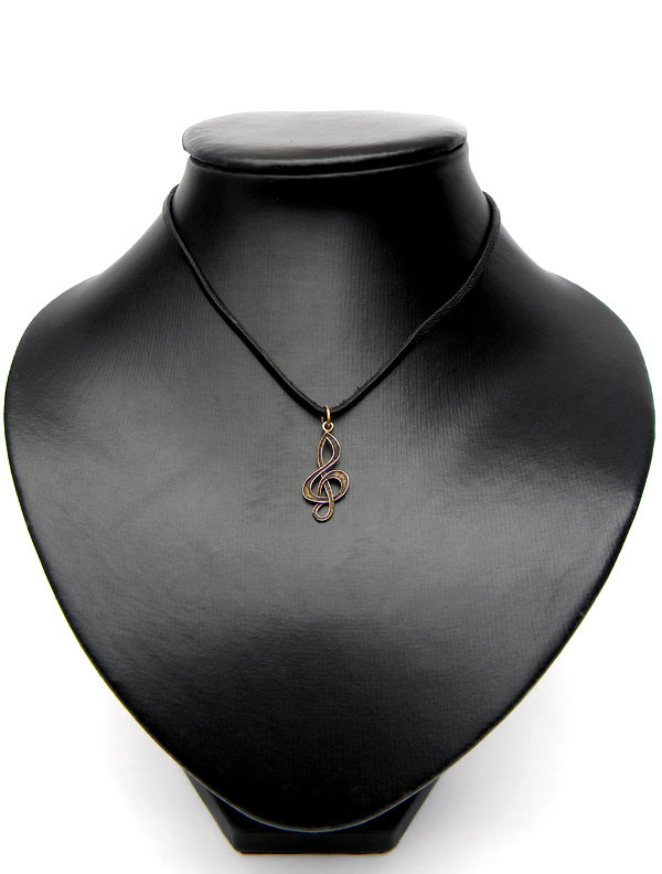 бижутерия скрипичный ключ подвеска на шею