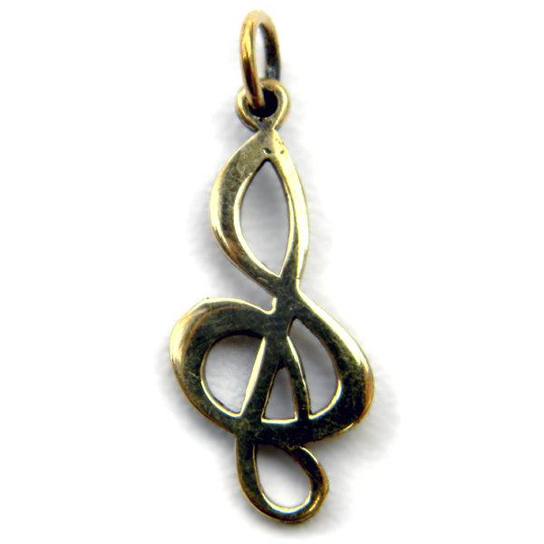 бронзовую подвеску скрипичный ключ купить