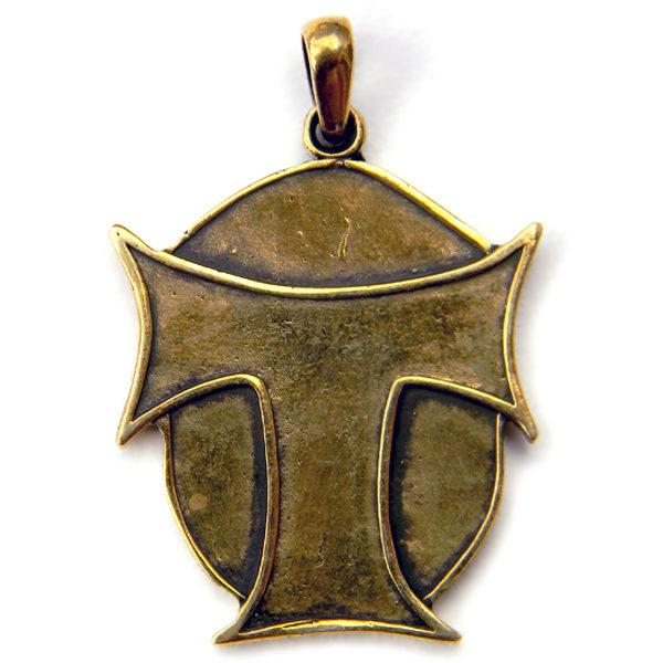 Христианское ювелироное изделие из бронзы - Тау-крест