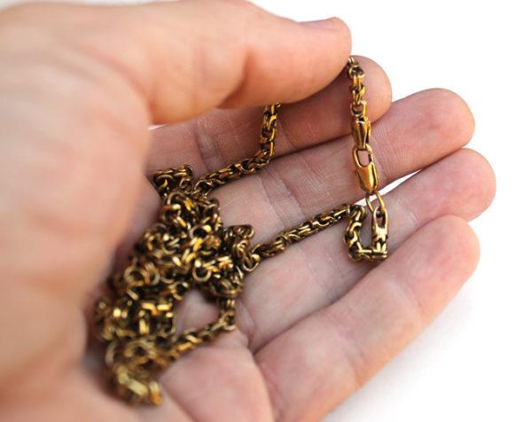 Купить толстую женскую цепочку на шею из бронзы