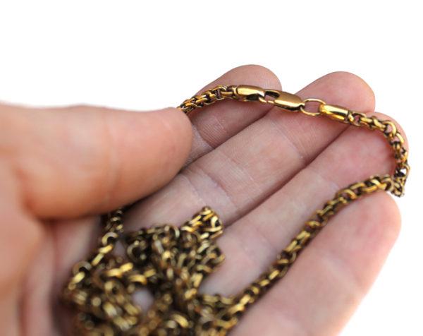 Купить стильную цепочку ручной работы жёлтого цвета