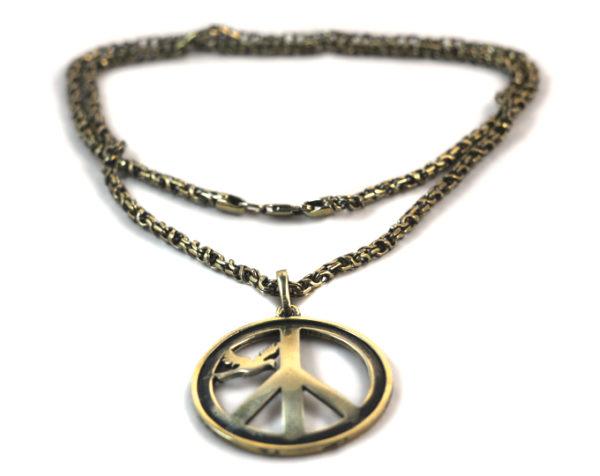 Купить латунную (бронзовую) цепочку для кулонов и подвесок толщиной 4 мм