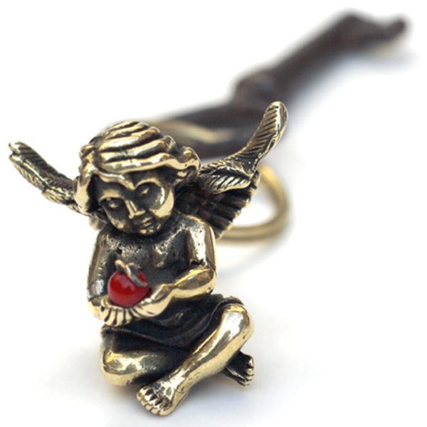 ангел бронзовый брелок с кораллом купить в симферополе оптом