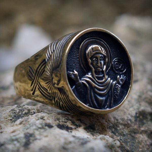 богоматерь знамение богородица кольцо бронзовое купить в крыму