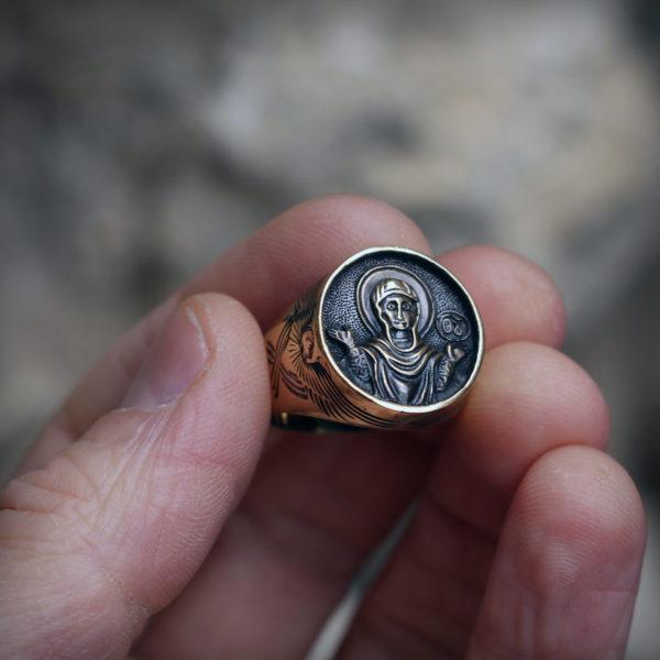 богоматерь знамение богородица кольцо бронзовое купить оптом