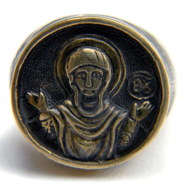 богоматерь знамение кольцо бронзовое купить