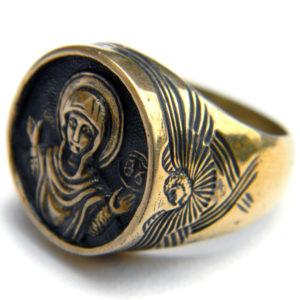 богоматерь знамение богородица кольцо бронзовое купить