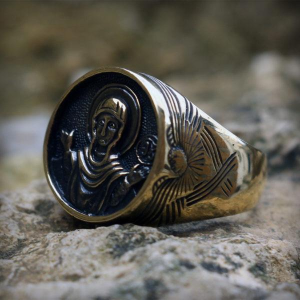богоматерь знамение богородица кольцо бронзовое купить в симферополе
