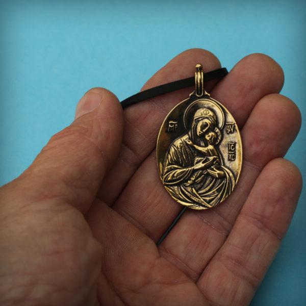 богоматерь умиление кулон елеуса икона купить в симферополе