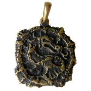 дракон бронзовый кулон подвеска с драконом купить в симферополе
