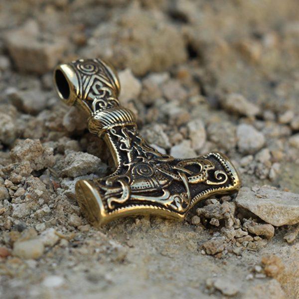 Молот Тора бронзовый кулон купить в симферополе