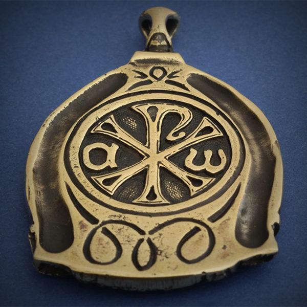 христианская икона спас кулон бронзовый мандилион купить в крыму оптом