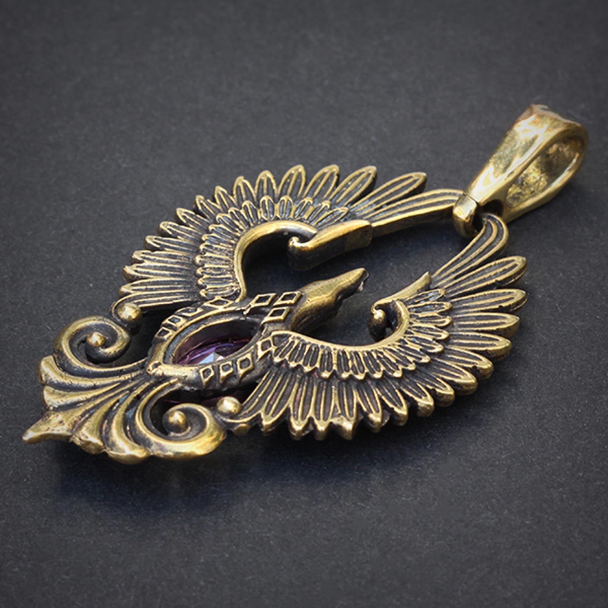 феникс бронзовый кулон купить в симферополе подарок девушке кулон подарок парню купить в крыму оптом