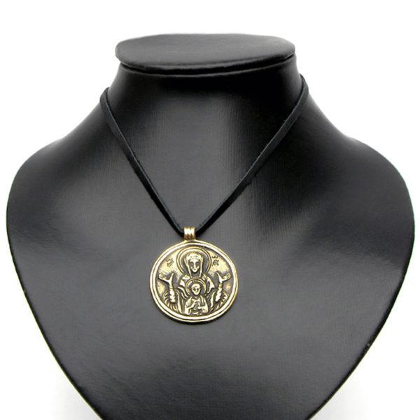 бронзовый кулон змеевик богоматерь знамение купить оптом в симферополе в крыму