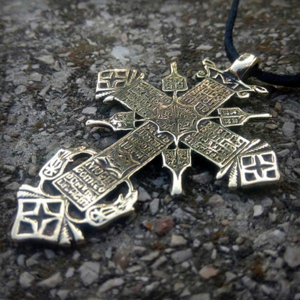бронзовый православный христианский крест с цатой купить в крыму в симферополе оптом