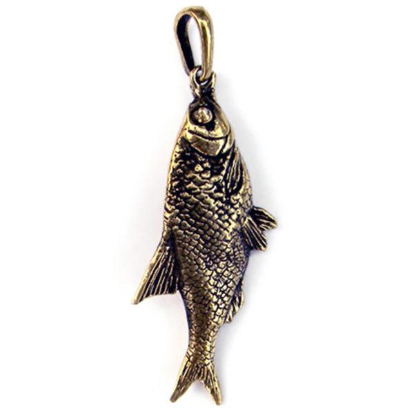 бронзовый кулон рыба вобла подвеска из бронзы купить в симферополе украшения оптом