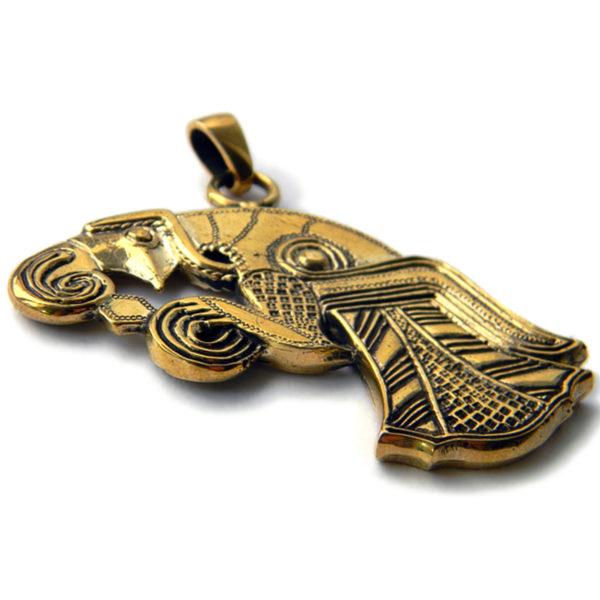 скандинавский ворон бронзовый кулон ворон одина купить в симферополе кельтские украшения