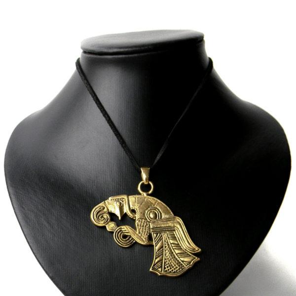 скандинавский ворон бронзовый кулон ворон одина купить в крыму