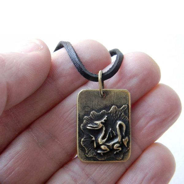 дракон бронзовый кулон купить в симферополе оптом в крыму подарок
