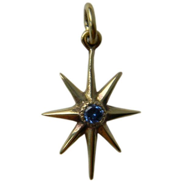 звезда восьмилучевая кулон бронзовый с фианитом купить в симферополе серьги