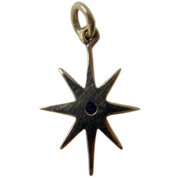 звезда восьмилучевая серьга бронзовая с фианитом купить в симферополе в крыму