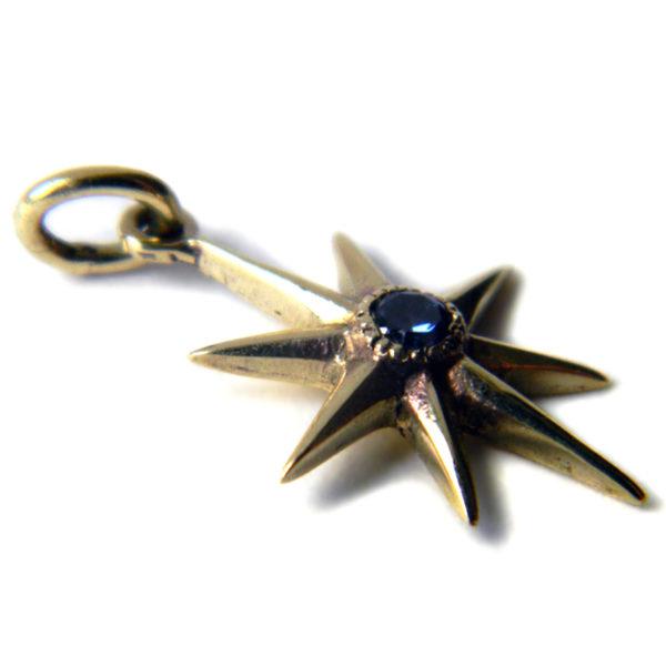 звезда восьмилучевая серьга бронзовая с фианитом кулон купить в симферополе в крыму