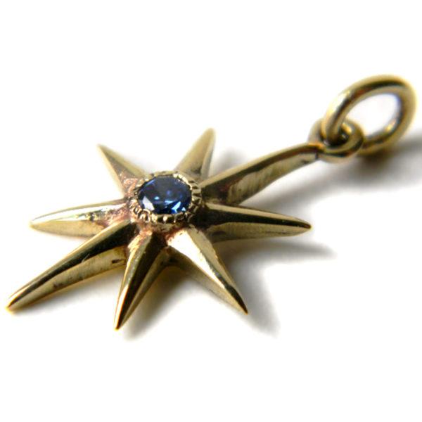звезда восьмилучевая серьга бронзовая кулон с фианитом купить в симферополе в крыму