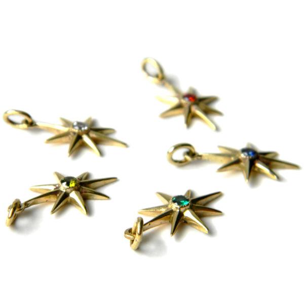 бронзовые украшения кулон с фианитом серьга звезда купить в симферополе