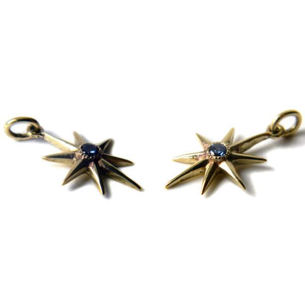 бронзовые украшения маленький кулон с фианитом серьга звезда купить в симферополе оптом