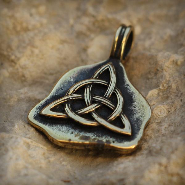 иггдрасиль бронзовый кулон трикветр скандинавский орнамент кулон купить подвеску на шее