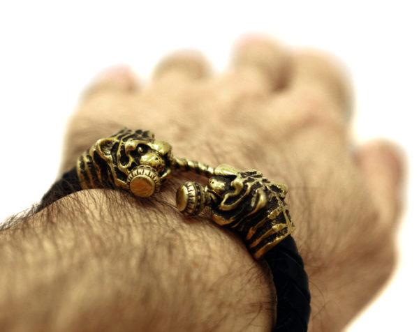 тотем тигра купить массивный браслет для мужчины в подарок на 23 февраля