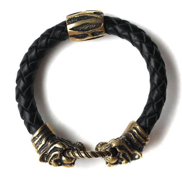 купить кожаный браслет тигр дорогие мужские браслеты на руку оригинальный подарок любимому на новый год