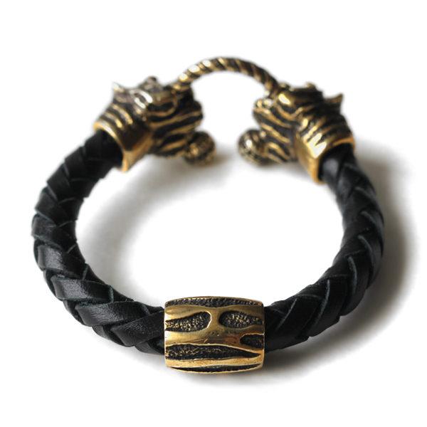 мужской плетеный браслет с тигром купить браслеты +для настоящих мужчин