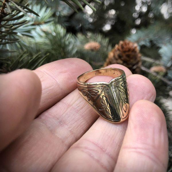 купить кольцо лучника для стрельбы из лука латунное бронзовое