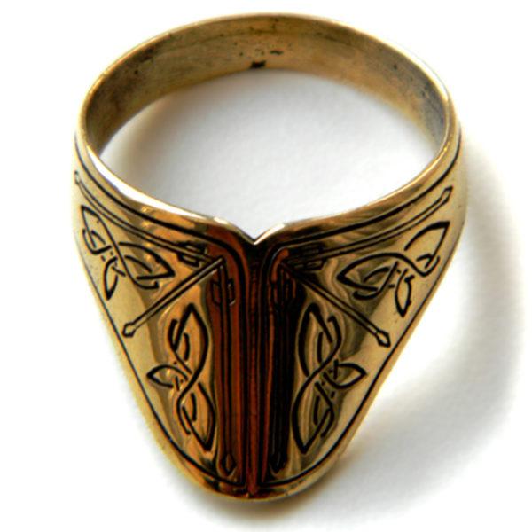 лучное бронзовое кольцо с орнаментами кельтскими купить в крыму симферополь