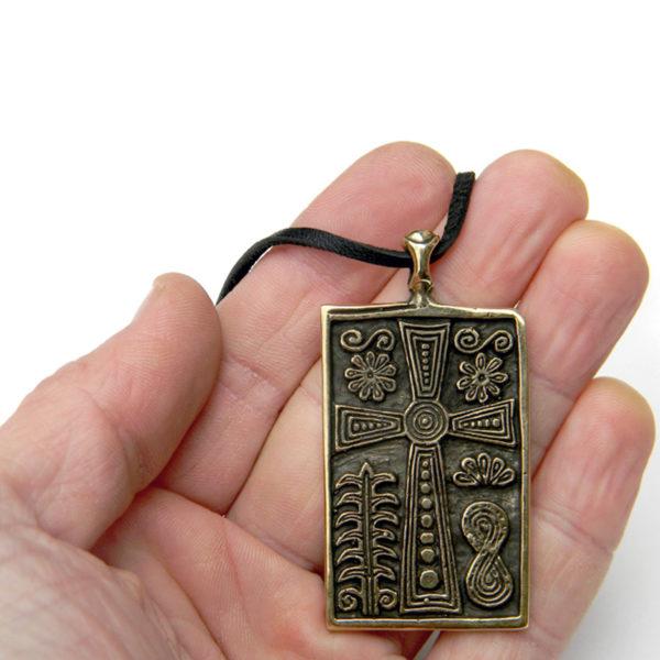 антепендиум сан-сальваторе латинский крест бронзовыйкулон купить в симферополе в крыму