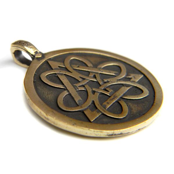 Купить кельтский кулон-оберег Колесо жизни Триединство Трискель
