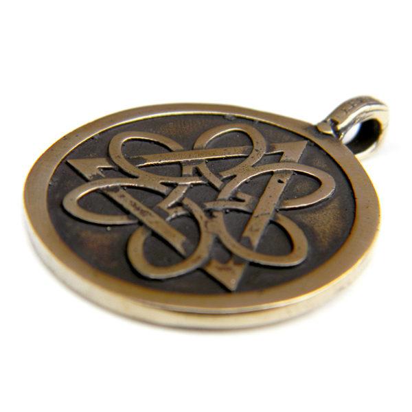 Купить кельтские украшения амулеты Колесо жизни бронзовая подвеска симферополь