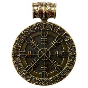 медальон шлем ужаса агисхьяльм купить подвеску из бронзы крест непобедимости
