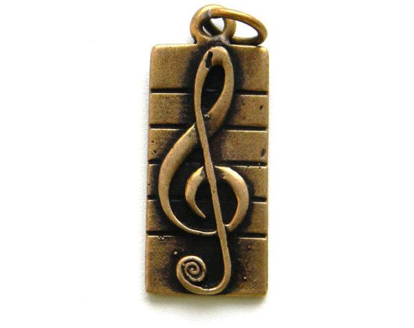 купить кулон скрипичный ключ на нотном
