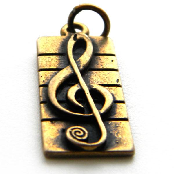 купить кулон скрипичный ключ подвеску из бронзы