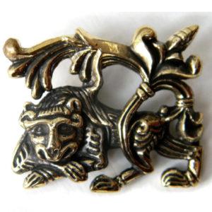 купить древнерусское женское украшение ювелирные изделия лев кулон бронзовый купить в симферополе