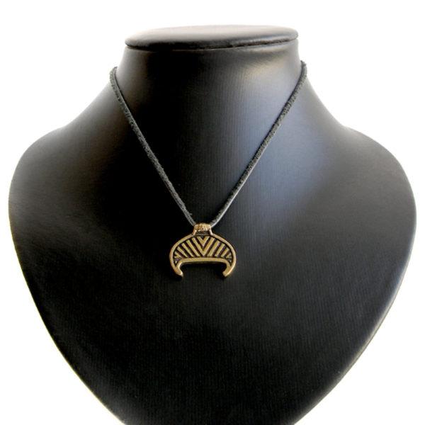 бронзовая лунница маленький кулон