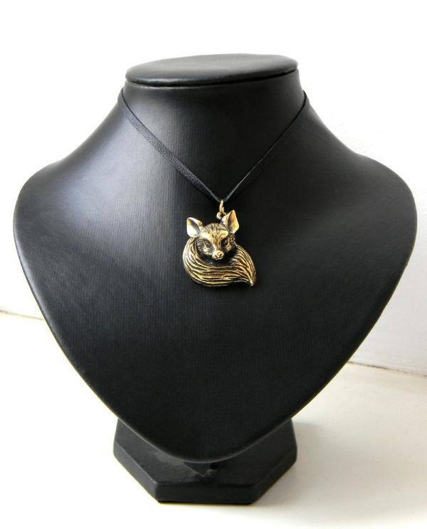 Купить подвеску на шею ручной работы лиса