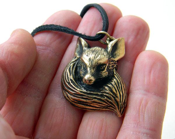 Купить бронзовое ювелирное украшение лисичка лиса