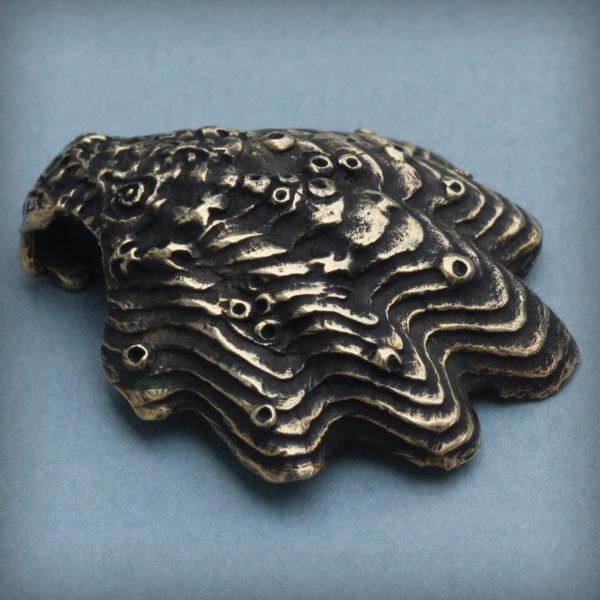 раковина морской гребешок кулон бронзовый купить в симферополе подарок в крыму
