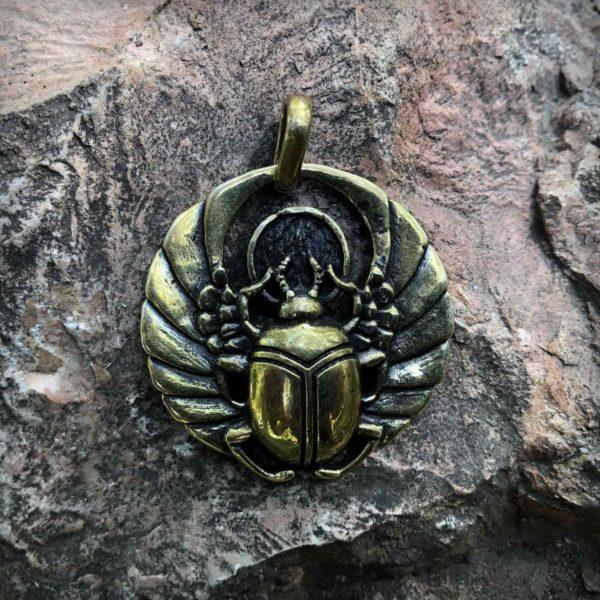 бронзовый скарабей кулон купить в симферополе подарок египетский амулет скарабей