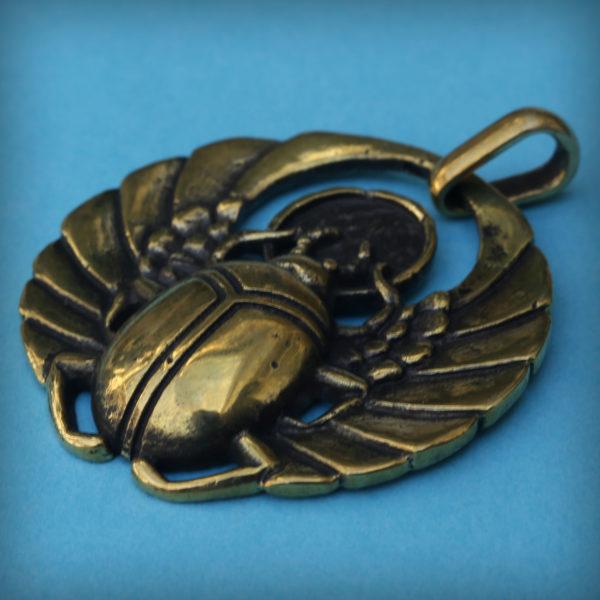 украшения древнего египта скарабей бронзовый кулон купить оптом